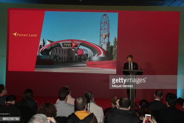 Luca Fuso attends the new Ferrari Land at Port Aventura World on April 6 2017 in Tarragona Spain