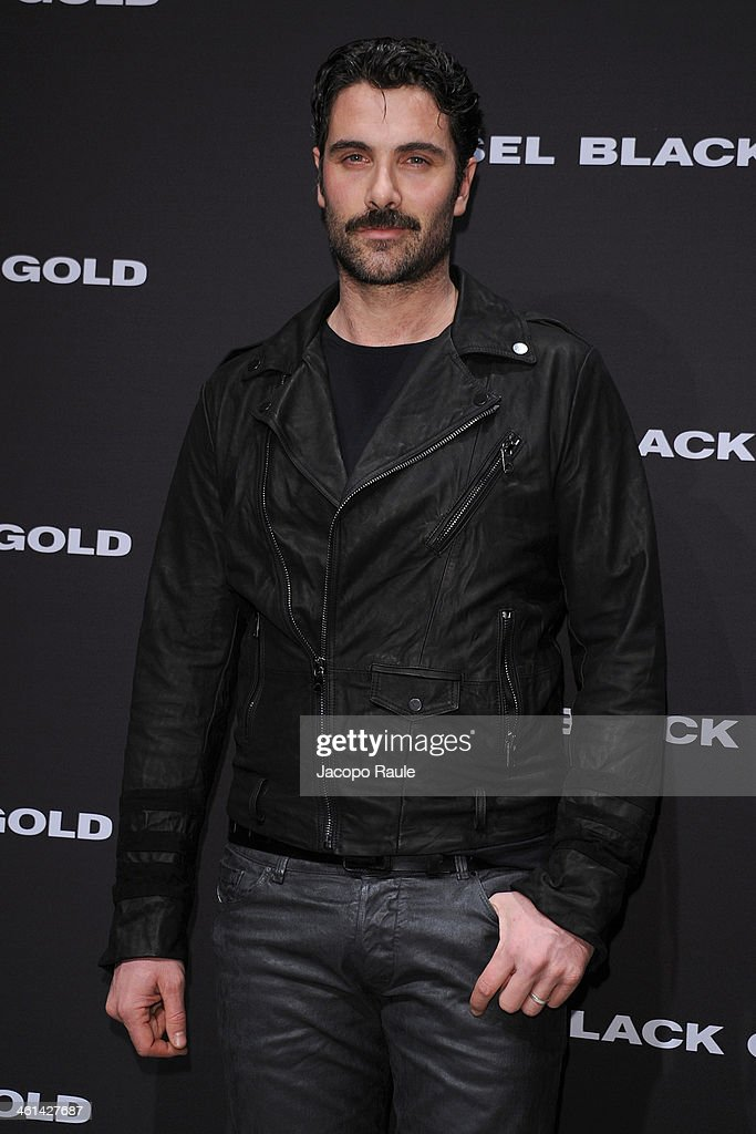 Luca Galvani attend Diesel Black Gold fashion show during Pitti Immagine Uomo 85 on January 8, 2014 in Florence, Italy.