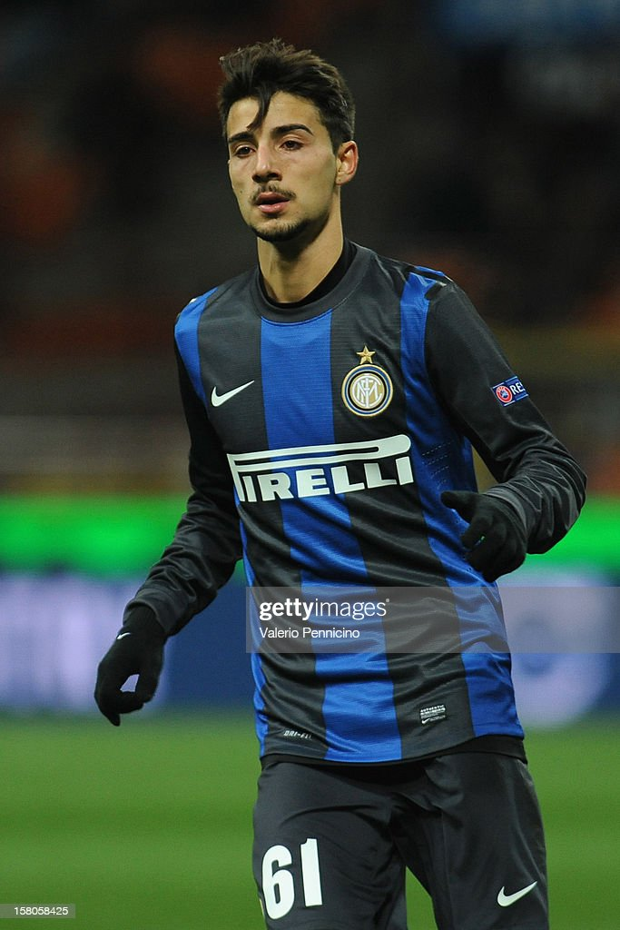 Luca Garritano of FC Internazionale Milano looks on during the UEFA Europa League group H match between FC Internazionale Milano and Neftci PFK on December 6, 2012 in Milan, Italy.