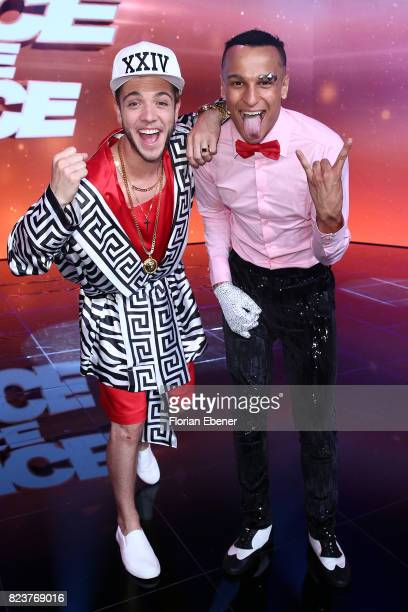 Luca Haenni and Prince Damien during the 1st show of the television competition 'Dance Dance Dance' on July 12 2017 in Cologne Germany The first...