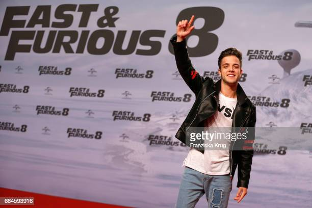 Luca Haenni attends the Fast Furious 8 Berlin Premiere at Sony Centre on April 4 2017 in Berlin Germany
