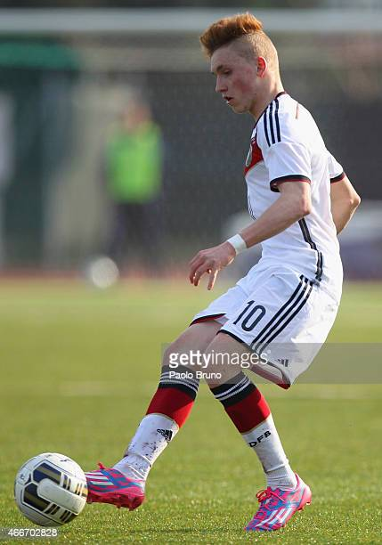 Luca Herrmann of Germany in action during the international friendly match between U16 Italy and U16 Germany on March 18 2015 in Recanati Italy