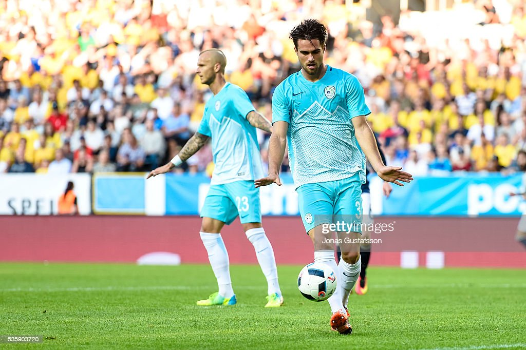 Luca Kranjc of Slovenia during the international friendly match between Sweden and Slovenia May 30, 2016 in Malmo, Sweden.