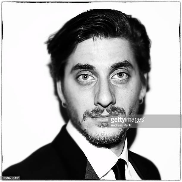Luca Marinelli poses for a portrait at the 'BMW Golden Bear Lounge' at the 63rd Berlinale International Film Festival on February 11 2013 in Berlin...