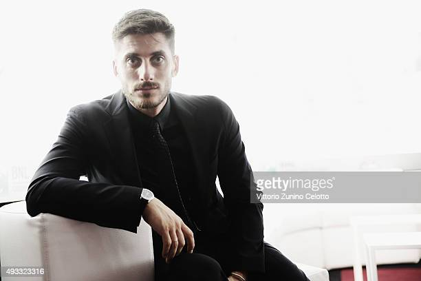 Luca Marinelli poses on October 17 2015 in Rome Italy