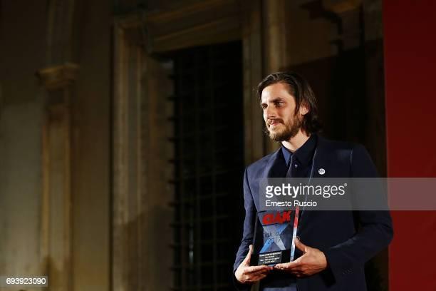 Luca Marinetti recives the Ciak D'Oro 2017 award at Link Campus University on June 8 2017 in Rome Italy