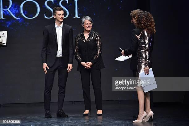 Luca Marini Stefania Rossi Teresa Mannino and Giorgio Pasotti attend the 'Gazzetta Awards' on December 17 2015 in Milan Italy
