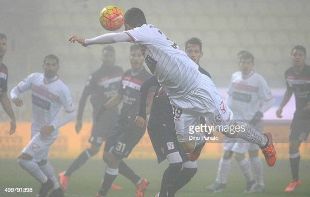 Luca Marrone of Carpi FC in action during the TIM Cup match between Carpi FC and AC Vicenza Calcio at Alberto Braglia Stadium on December 3 2015 in...