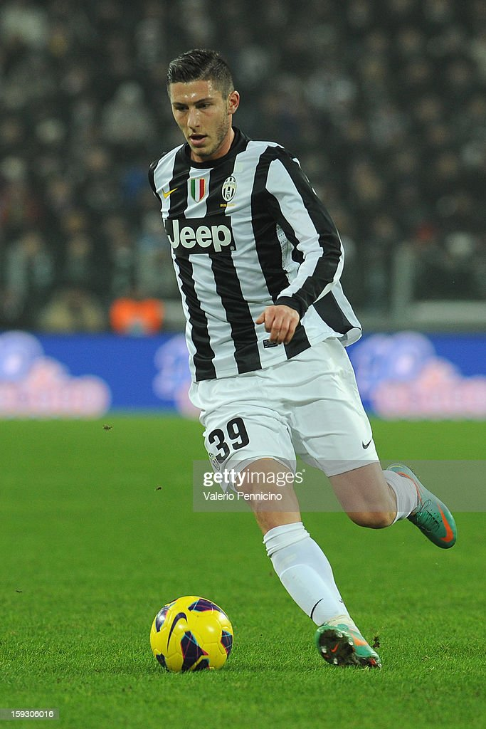 Luca Marrone of Juventus FC in action during the TIM cup match between Juventus FC and AC Milan at Juventus Arena on January 9, 2013 in Turin, Italy.