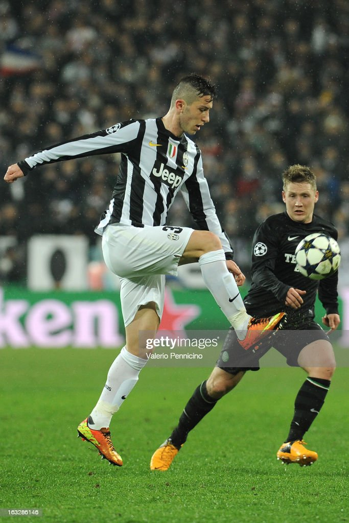 Luca Marrone of Juventus in action during the UEFA Champions League round of 16 second leg match between Juventus and Celtic at Juventus Arena on March 6, 2013 in Turin, Italy.