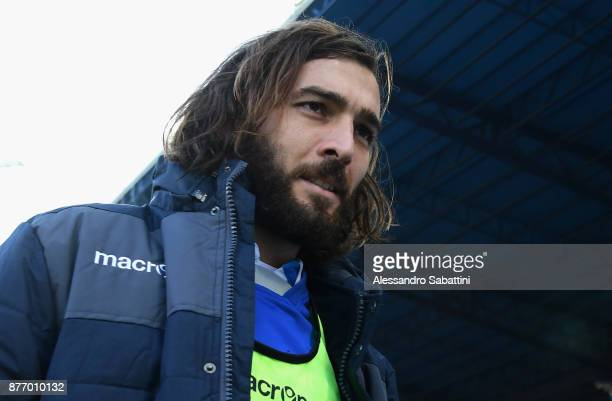 Luca Mora of Spal looks on before the Serie A match between Spal and ACF Fiorentina at Stadio Paolo Mazza on November 19 2017 in Ferrara Italy