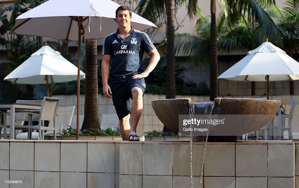 Luca Morisi of Italy during the Italian players offbeat session at Garden Court Hotel, Umhalanga on June 10, 2013 in Durban, South Africa.