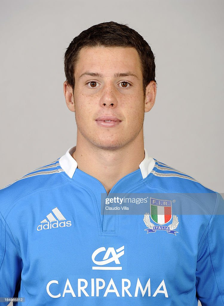 Luca Morisi poses during a Italy Rugby Union player portrait session on October 22, 2012 in Rome, Italy.