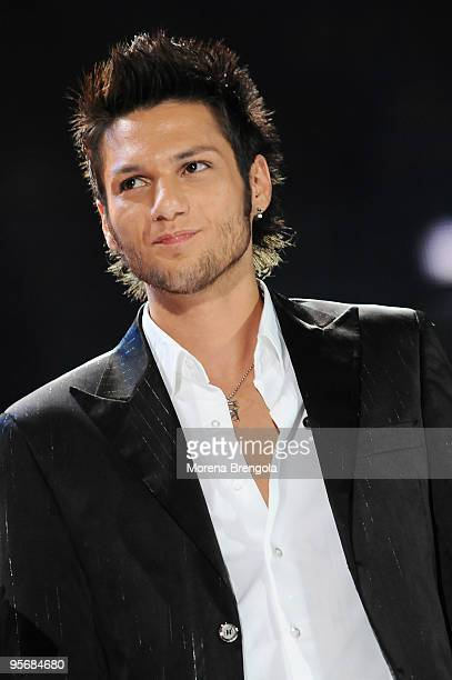 Luca Napolitano performs at the Arena of Verona during the Wind Music Awards on June 6 2009 in Verona Italy