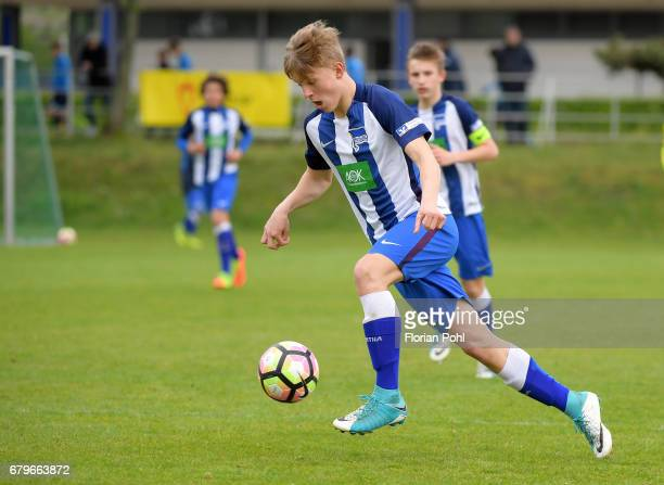 Luca Netz of Hertha BSC U14 during the Nike Premier Cup 2017 game on May 6 2017 in Berlin Germany