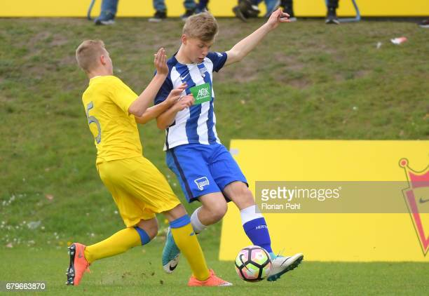 Luca Netz of Hertha BSC U14 during the Nike Premier Cup 2017 on May 6 2017 in Berlin Germany
