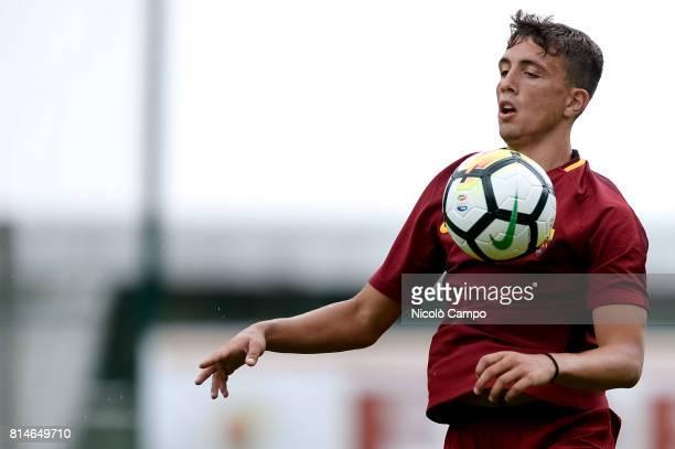 PINETA PINZOLO TRENTO ITALY Luca Pellegrini of AS Roma in action during the preseason friendly football match between AS Roma and FC Slovacko AS Roma...