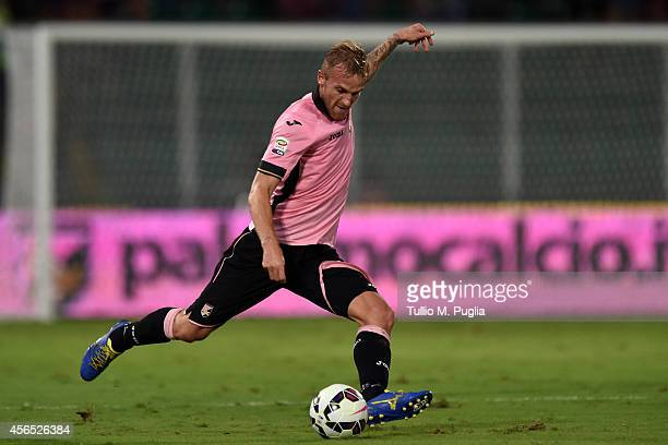 Luca Rigoni of Palermo in action during the Serie A match between US Citta di Palermo and UC Sampdoria at Stadio Renzo Barbera on August 31 2014 in...