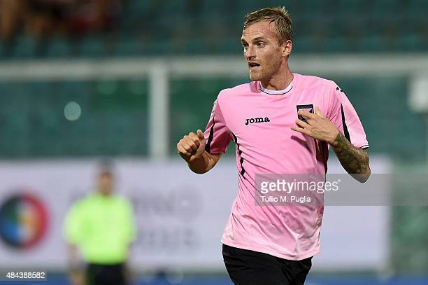 Luca Rigoni of Palermo in action during the TIM Cup match between US Citta di Palermo and US Avellino at Stadio Renzo Barbera on August 15 2015 in...