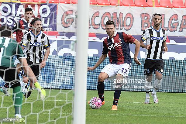 Luca Rizzo of Bologna FC in action during the Serie A match between Bologna FC and Udinese Calcio at Stadio Renato Dall'Ara on September 27 2015 in...