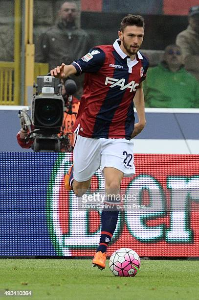 Luca Rizzo of Bologna FC in action during the Serie A match between Bologna FC and US Citta di Palermo at Stadio Renato Dall'Ara on October 18 2015...