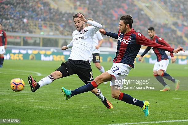 Luca Rizzo of Bologna FC in action during the Serie A match between Bologna FC and US Citta di Palermo at Stadio Renato Dall'Ara on November 20 2016...