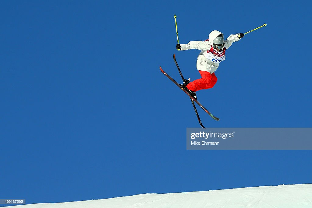 Luca Schuler of Switzerland competes in the Freestyle Skiing Men's Ski Slopestyle Qualification during day six of the Sochi 2014 Winter Olympics at...