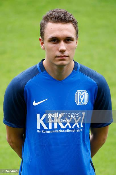 Luca Sellere of SV Meppen poses during the official team presentation of SV Meppen at Haensch Arena on July 8 2017 in Meppen Germany