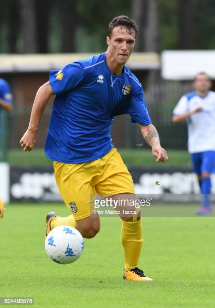 Luca Siligardi of Parma Calcio in action during the preseason friendly match between Parma Calcio and Dro on July 30 2017 in Pinzolo near Trento Italy