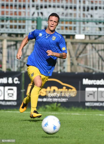 Luca Siligardi of Parma Calcio in actionduring the preseason friendly match between Parma Calcio and Dro on July 30 2017 in Pinzolo near Trento Italy