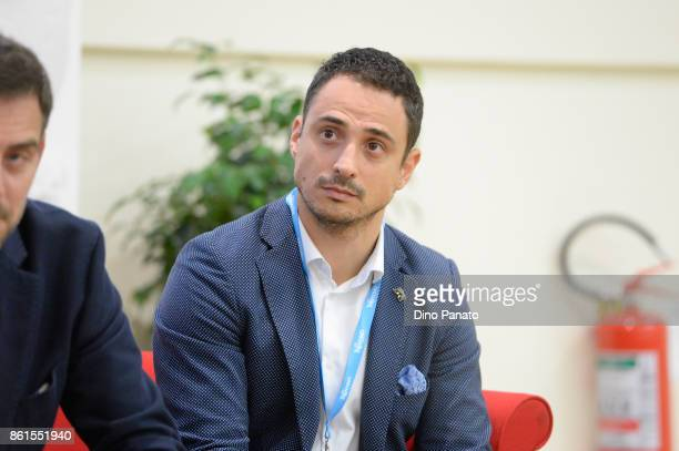 Luca Spinelli attends the second day of the Hackathon Event at the University of Letters on October 15 2017 in Trento Italy