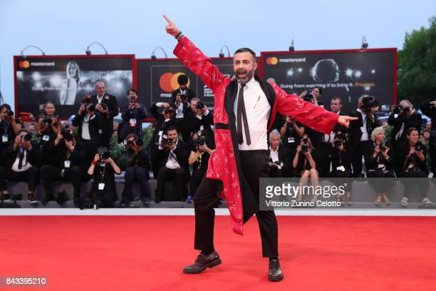 Luca Tommassini walks the red carpet ahead of the 'Ammore E Malavita' screening during the 74th Venice Film Festival at Sala Grande on September 6...