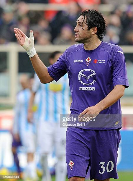 Luca Toni of Fiorentina during the Serie A match between ACF Fiorentina and Pescara at Stadio Artemio Franchi on January 6 2013 in Florence Italy