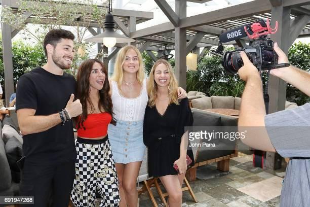 Luca Vezil designer Shantall Lacayo Valentina Ferragni and Laura Busetti attend Miami Fashion Week Influencers Brunch at Quinto La Huella at East...