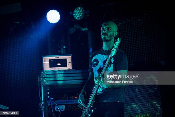 Luca Vicini bassist of the alternative rock band Subsonica performing at the Fabrique Milan 24th February 2016