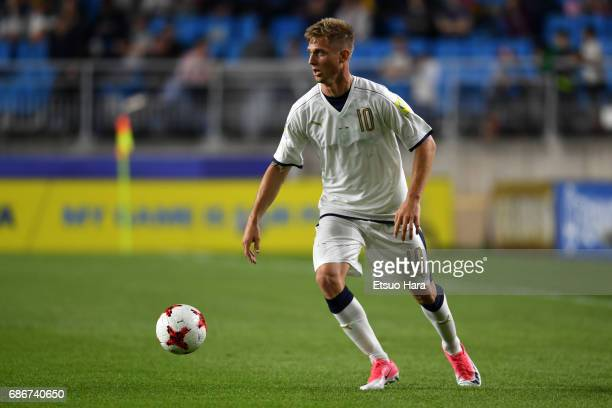 Luca Vido of Italy in action during the FIFA U20 World Cup Korea Republic 2017 group D match between Italy and Uruguay at Suwon World Cup Stadium on...