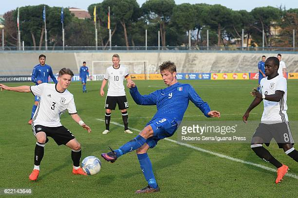 Luca Vido of Italy in action during the Four Nations tournament match between Italy U20 and Germany U20 on November 10 2016 in Forli Italy