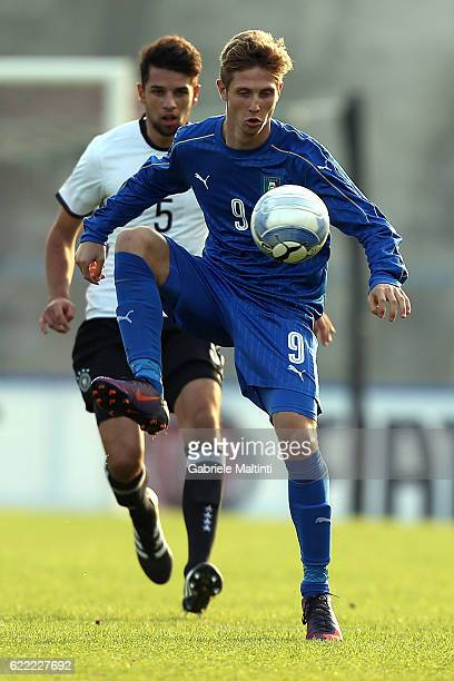 Luca Vido of Italy U20 in action during the Four Nations tournament match between Italy U20 and Germany U20 on November 10 2016 in Forli Italy