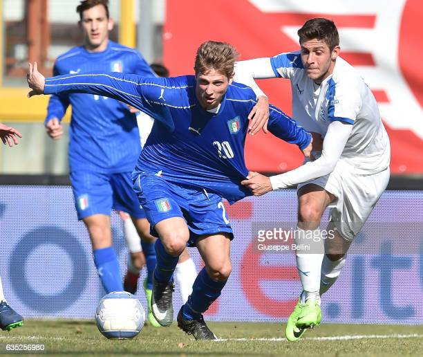 Luca Vido of Italy U20 in action during the friendly match between Italy U20 and B Italia at Stadio Renato Curi on February 14 2017 in Perugia Italy