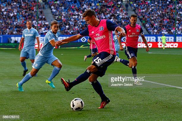 Luca Waldschmidt of Hamburg during the preseason friendly match between Hamburger SV and Stoke City at Volksparkstadion on August 6 2016 in Hamburg...