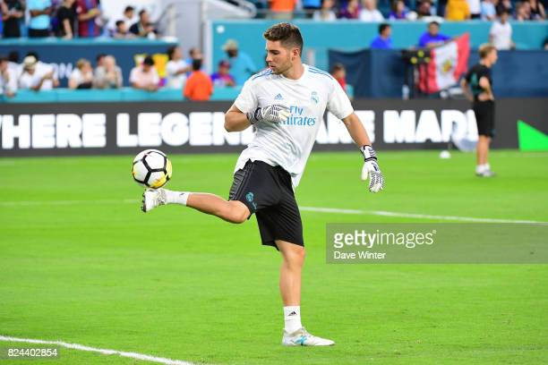 Luca Zidane of Real Madrid during the International Champions Cup match between Barcelona and Real Madrid at Hard Rock Stadium on July 29 2017 in...