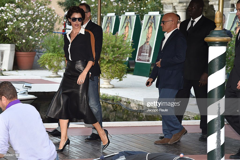 Luca Zingaretti and Luisa Ranieri are seen during The 71st Venice International Film Festival on August 28 2014 in Venice Italy