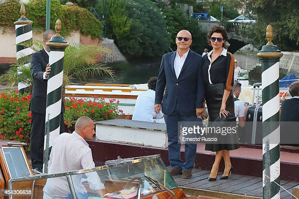Luca Zingaretti and Luisa Ranieri sighting at Darsena of Excelsior Hotel on August 28 2014 in Venice Italy