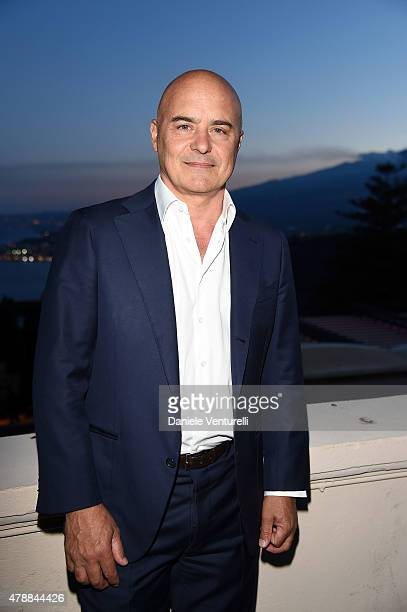 Luca Zingaretti attends attends the Nastri D'Argento Awards 2015 Cocktail on June 27 2015 in Taormina Italy