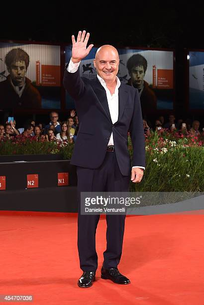 Luca Zingaretti attends 'Perez' Premiere during the 71st Venice Film Festival at Sala Grande on September 5 2014 in Venice Italy