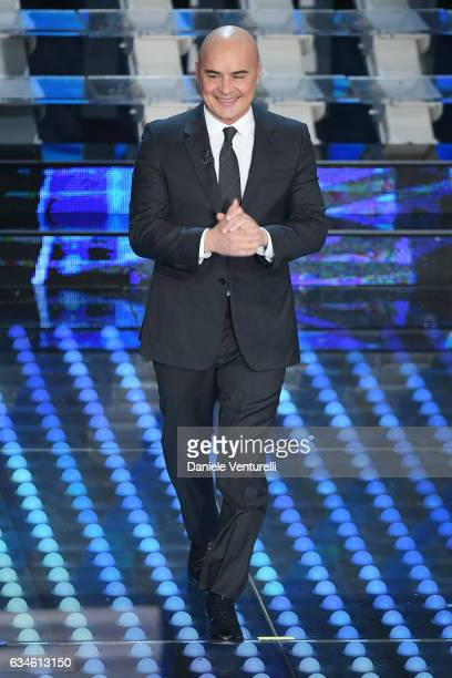 Luca Zingaretti attends the fourth night of the 67th Sanremo Festival 2017 at Teatro Ariston on February 10 2017 in Sanremo Italy