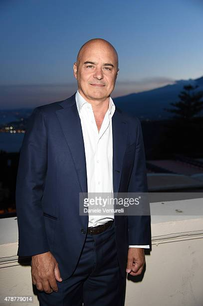 Luca Zingaretti attends the Nastri D'Argento Awards 2015 Cocktail on June 27 2015 in Taormina Italy