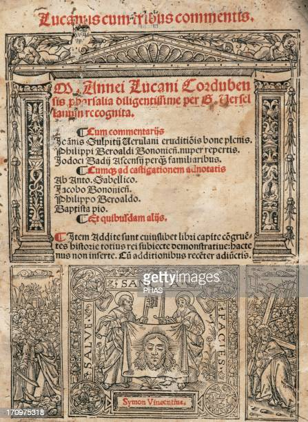 Lucan Latin poet Pharsalia Title cover Printed in 1519