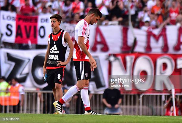 Lucas Alario of River Plate looks dejected after loosing a match between River Plate and Boca Juniors as part of Torneo Primera Division 2016/17 at...