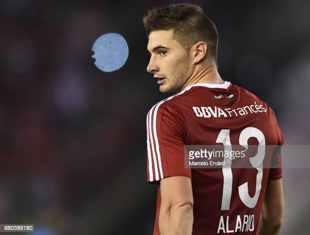 Lucas Alario of River Plate looks on during a match between River Plate and Temperley as part of Torneo Primera Division 2016/17 at Monumental...
